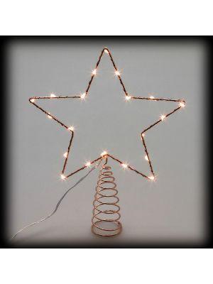 Puntale A Stella Per Albero Di Natale.Puntale A Stella Per Albero Di Natale Metal Frame 20 Microled Luce