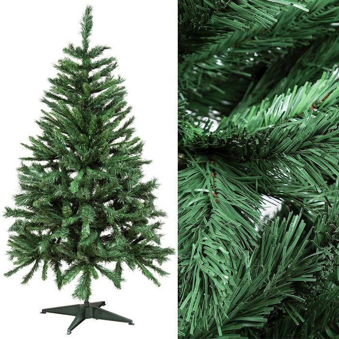 Albero Di Natale 150 Cm.Albero Di Natale In Pvc Verde H 150 Cm Con Piedistallo In Plastica