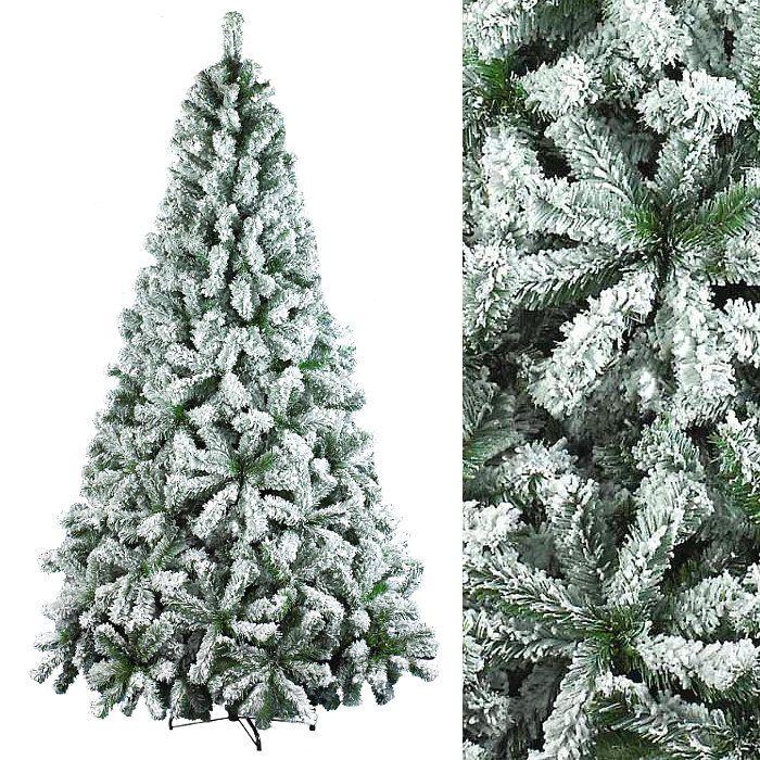 Albero Di Natale H 240.Albero Di Natale Con Effetto Neve H 240 Cm
