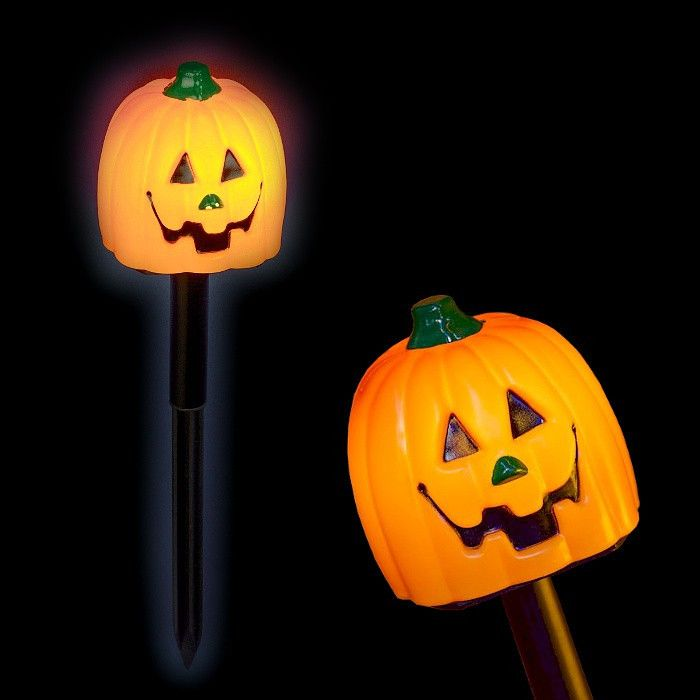 Zucche Di Halloween Terrificanti.Bastone Zucca Halloween A Batteria Luce Fissa Bianco Classic