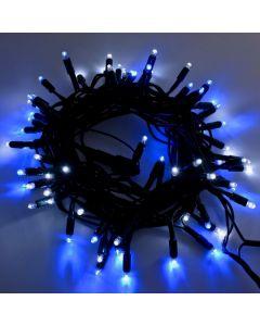 Catena 120 MaxiLED BIANCO & BLU - Prolungabile - Luce Fissa - 230V - lunghezza 10m
