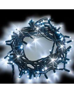 Catena 20 m - 200 maxiled Flashled Diamond - SENZA alimentazione - prolungabile - Bianco Ghiaccio