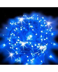 Catena 10 m - 200 maxiled Flashled diamond - SENZA alimentazione - prolungabile - cavo bianco - Blu