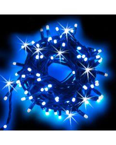 Catena 20 m - 200 maxiled Flashled Diamond - SENZA alimentazione - prolungabile - Blu