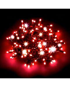 Catena 20 m - 200 maxiled Flashled Diamond - SENZA alimentazione - prolungabile - Rosso