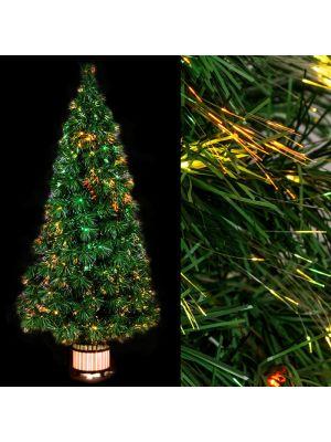 albero di natale a fibre ottiche multicolor alto 120 cm