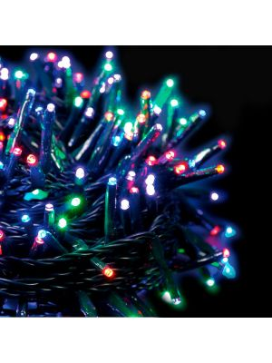 Catena luminosa extralong 8,90 m - 120 miniled con memory controller - multicolor
