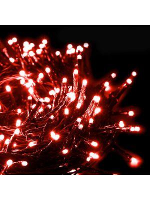 Catena di luci extralong 13,10 m - 180 miniled con memory controller - rosso