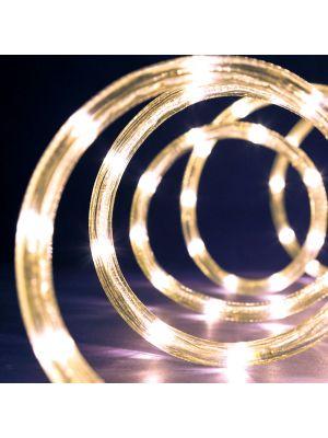 Tubo luminoso a led 9 m ø 10 mm 216 led con memory controller - bianco caldo
