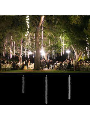 Cascata di luci 288 led - 200 x h 100 cm - Flashled Diamond - Bianco Ghiaccio