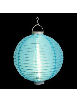 Lanterna party a batteria ø 30 cm in tessuto blu - bianco classic
