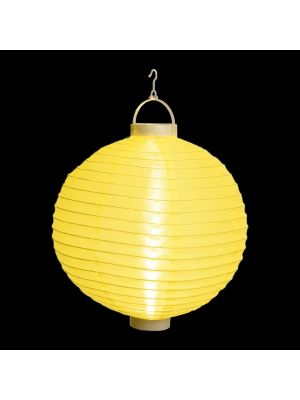 Lanterna party a batteria ø 30 cm in tessuto giallo - bianco classic