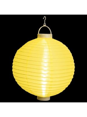 Lanterna party a batteria ø 40 cm in tessuto giallo - bianco classic