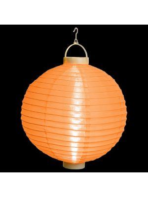 Lanterna party a batteria ø 40 cm in tessuto arancio - bianco classic