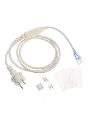 Cavo di alimentazione + set accessori per 1 spezzone cablato di SMD Neon bifacciale