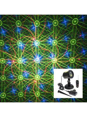 Proiettore laser punti stelle e galassie - con telecomando - verde rosso e blu