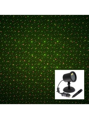 Proiettore laser punti - lampeggiante - verde e rosso
