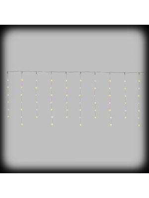 Tendina luminosa a batteria 180xh70 cm - 65 microled con 35 stelline con telecomando IR - bianco classic