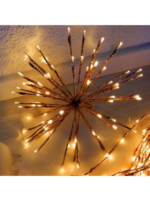 Ramo luminoso twig ball ø 30 cm - effetto rame - 80 led reflex - bianco tradizionale