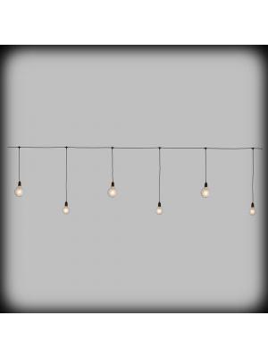 Ice light tendina party 360xh80 cm con 6 lampadine E27 - prolungabile - luce fissa- bianco caldo