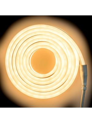 Tubo luminoso led bifacciale effetto neon 8 m - 960 led - luce fissa - bianco caldo