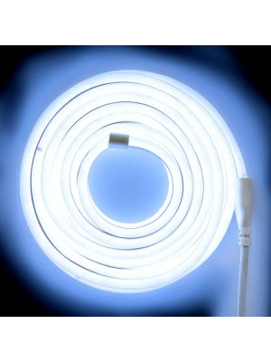 Tubo luminoso led bifacciale effetto neon 8 m - 960 led - luce fissa - bianco freddo