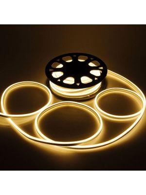 Tubo luminoso led bifacciale effetto neon 50 m - 6000 led - luce fissa - bianco caldo