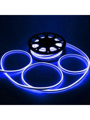 Tubo luminoso led bifacciale effetto neon 50 m - 6000 led - luce fissa - blu