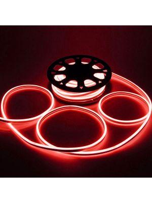 Tubo luminoso led bifacciale effetto neon 50 m - 6000 led - luce fissa - rosso