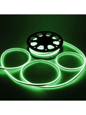 Tubo luminoso led bifacciale effetto neon 50 m - 6000 led - luce fissa - verde