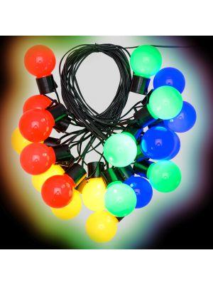 Catena party light da 10 m con 20 lampadine ø50xh60 cm - multicolor