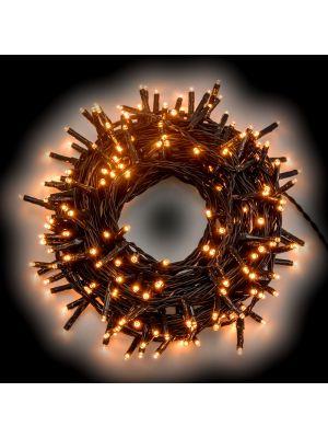 Catena luminosa 2,80 m - 40 miniled a luce fissa - bianco caldo tradizionale