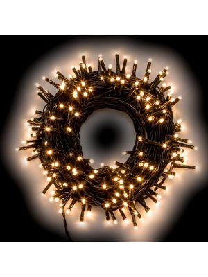 Catena luminosa 2,80 m - 40 miniled a luce fissa - bianco classic
