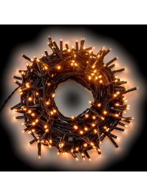 Catena di luci 5,60 m - 80 miniled a luce fissa - bianco caldo tradizionale