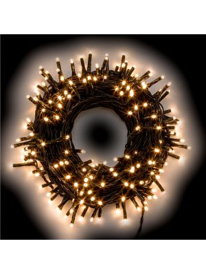Catena di luci 5,60 m - 80 miniled a luce fissa - bianco classic