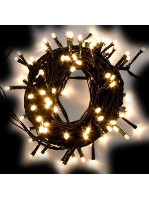 Catena 10 m - 100 LED Reflex - SENZA alimentazione - prolungabile - bianco classic caldo
