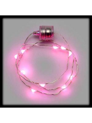 Collana luminosa 10 Microled a batteria - luce fissa - pink