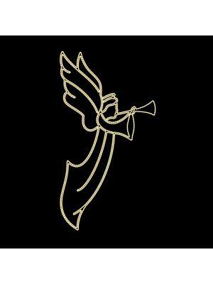 Decorazione natalizia laterale per lampioni 'Angel Small' - 120 x 200 cm
