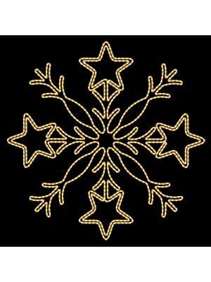 Motivo luminoso a Led fiocco di neve Starry Flake - bianco caldo