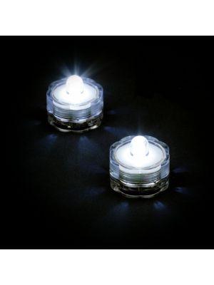et 2 candele subacquee a batteria luce fissa bianco ghiaccio