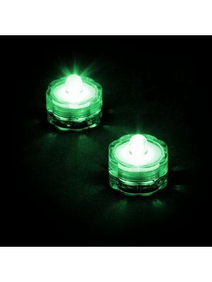 Set 2 candele subacquee a batteria luce fissa verde