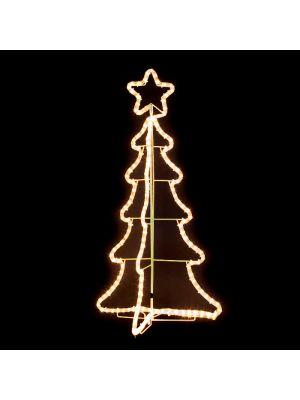 Albero di Natale 3D h 95 cm - 180 luci incandescenza - bianco classic