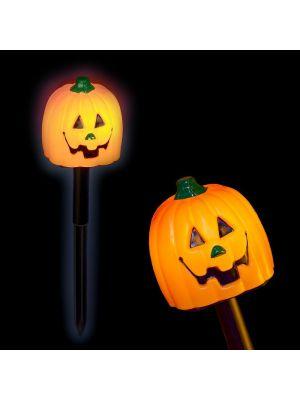 Bastone Zucca Halloween a batteria - luce fissa - bianco classic