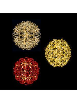 sfere luminose colorate a batteria