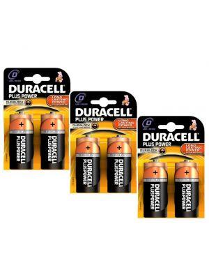3 x confezione 2 pz. pile TORCIA DURACELL