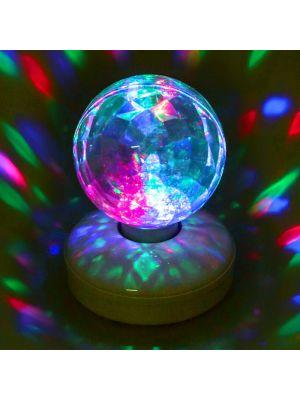 Proiettore sfera diamantata led Multicolor rotante
