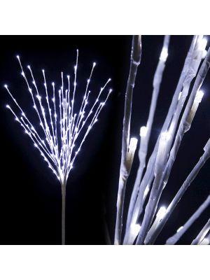 Ramo bianco luminoso H 100 cm 144 led luce fissa bianco ghiaccio luce fredda