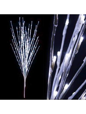 Ramo bianco luminoso H 180 cm 288 led luce fissa bianco ghiaccio decorazione led