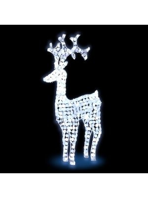 Renna bianca H 120 cm ACP 3D White 250 led reflex - luce fissa - bianco ghiaccio