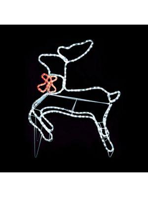 Decorazione natalizia luminosa a forma di renna